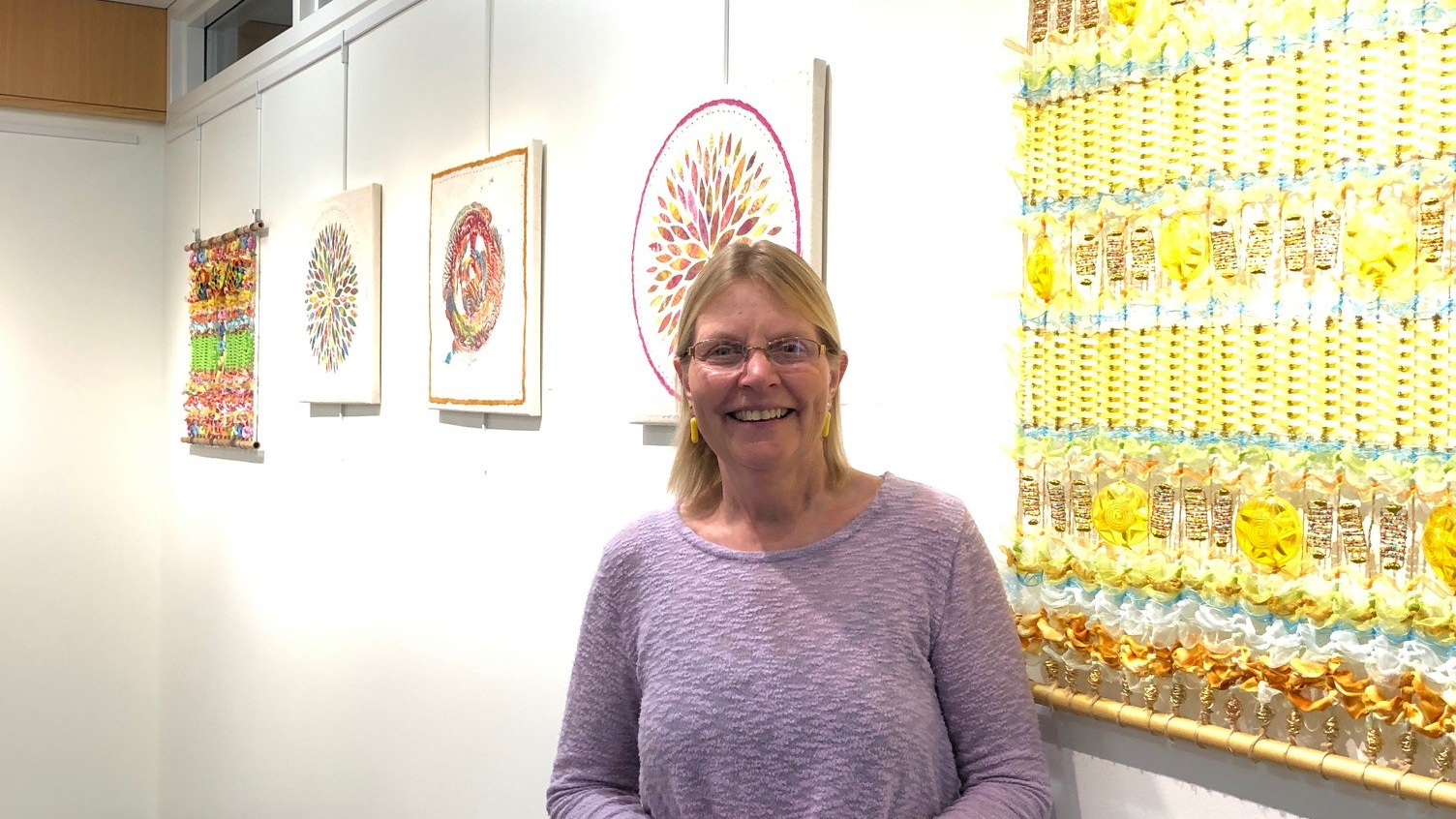 Downers Grove Library Art Display, Theresa Suchy McGraw